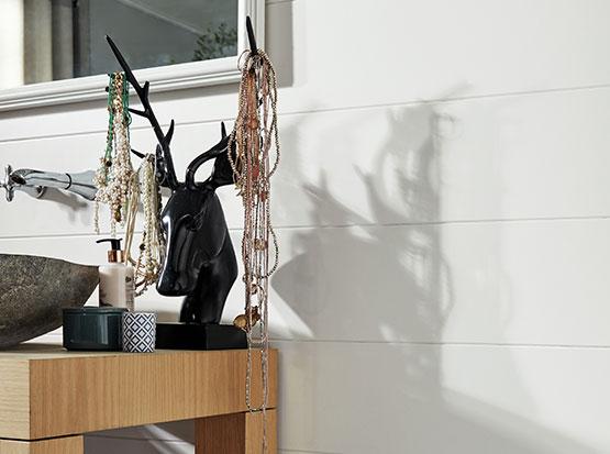 Dekorpaneele Bocado, weiß glänzend bei Holzland Köster in Emmerke bei Hildesheim und Hannover