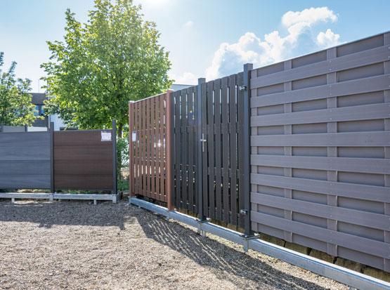 Holzland Outdoor Sichtschutz-Ausstellung