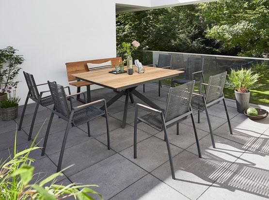 Gartentisch Lyon, Stuhl Valencia, HolzLand Köster in Emmerke