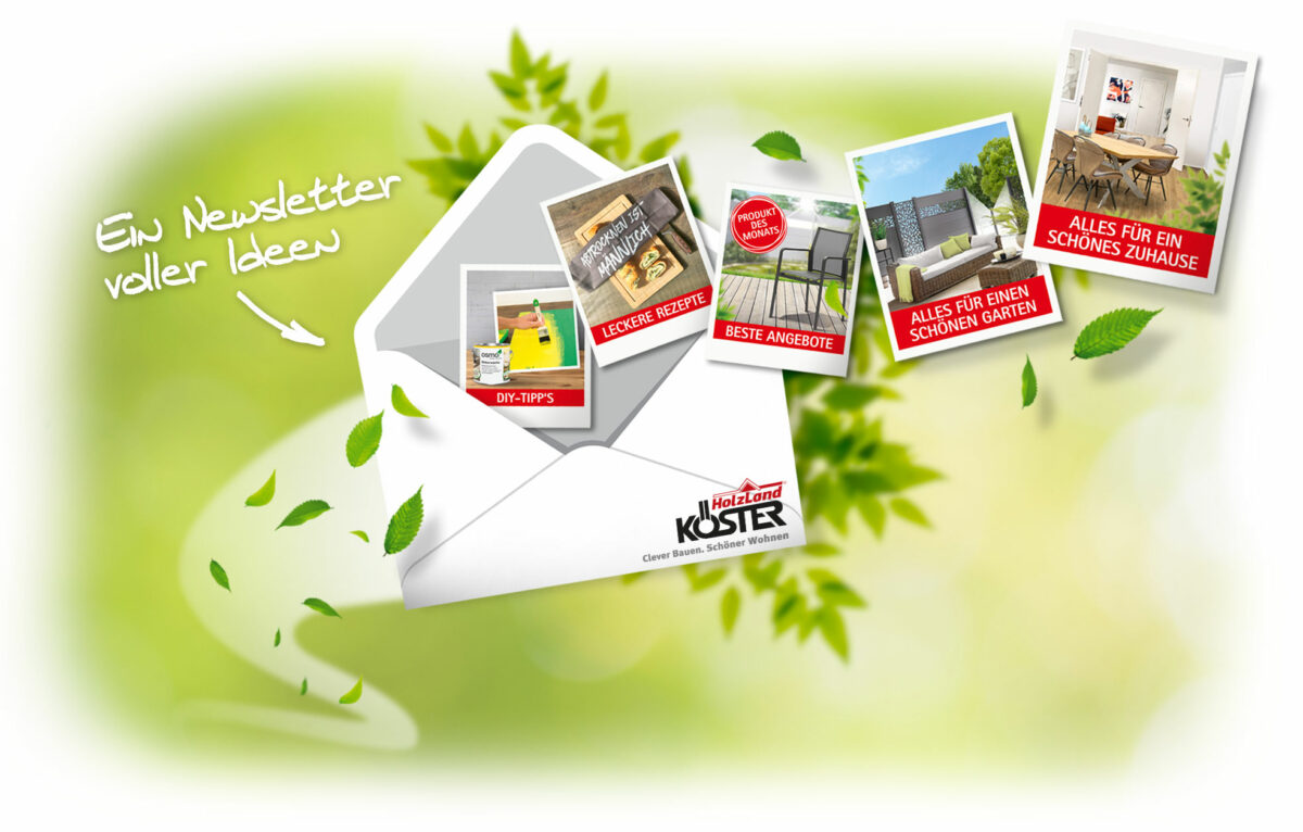 Holzland Köster in Emmerke bei Hildesheim und Hannover Newsletteranmeldung