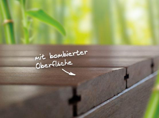 Terrassendiele Bambus bombiert, HolzLand Köster in Emmerke