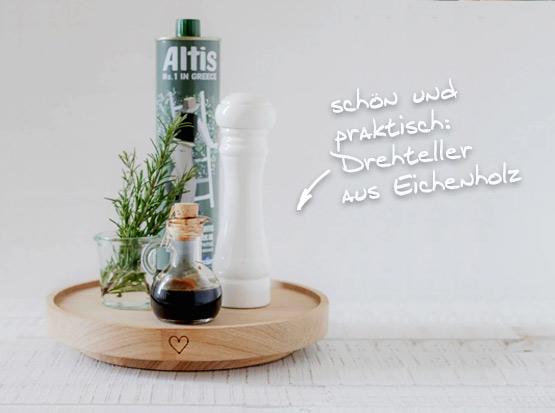 Drehteller aus Eichenholz, HolzLand Köster