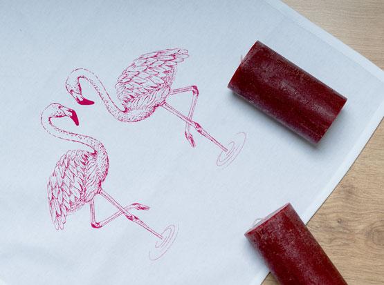 Geschirrtuch Flamingos, HolzLand Köster in Emmerke