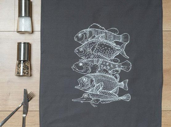 Geschirrtuch Fische, HolzLand Köster in Emmerke