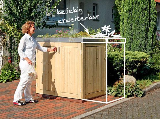 Erweiterbares Müllbox System Binto von Traumgarten bei Holzland Köster in Emmerke