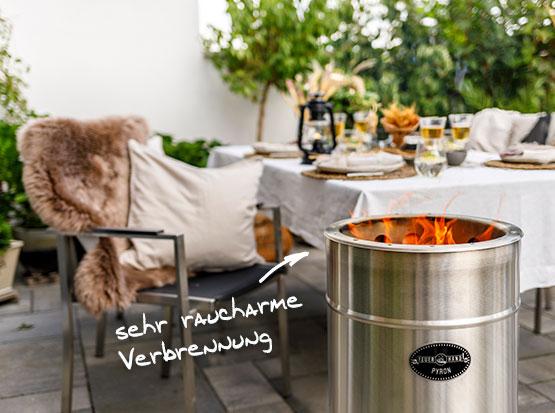 Edelstahl Feuertonne Pyron, Holzland Köster in Emmerke