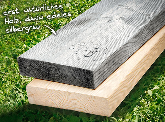 natürlich gealterte Terrassendiele Organowood von Scheerer bei Holzland Köster in Emmerke
