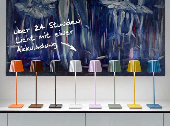 Tischlampe Troll von Sompex in vielen unterschiedlichen Farbvarianten, bei Holzland Köster in Emmerke